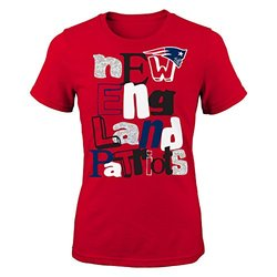 NFL Youth Girls 7-16 Marquise Fashion Tee - Red - Size: Large