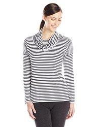 Mott 50 Medena Top, White/Navy Stripe, Large