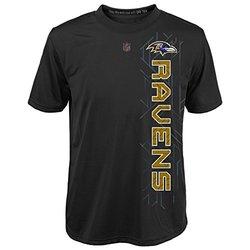 NFL Youth Boys 8-20  Baltimore Ravens T-Shirt - Black - Size: Large