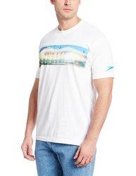 Speedo Men's Pier Reflection Short Sleeve T-Shirt - White - Size: Large