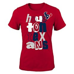 NFL Youth Girls Houston Texans Marquise Fashion SS Tee - Crimson - SIze: L