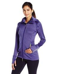 Tamagear Women's Saddleback Full Zip Mid-Layer Jacket, Blueberry, X-Small