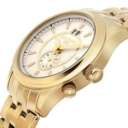 Paul Perret Musset Swiss Quartz Men's Watch - Gold