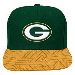 NFL Green Bay Packers Boys 8-20 Flat Visor Snap Back, One Size, Hunter