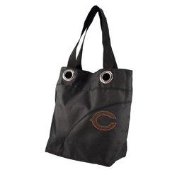 """Littlearth NFL """"Chicago Bears"""" Sport Noir Sheen Tote Handbag - Black"""