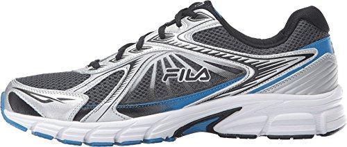 5fc5573cbf588 Fila Men's Omnispeed Sneaker - Dark Silver/Black/Electric Blue - Size: 10.5
