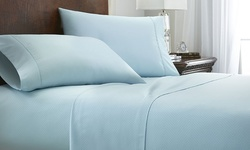 Merit Linens Double-Brushed Chevron Bed Sheet Set 4Pc - Sage - Size: Queen