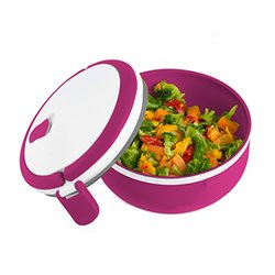 2 Pack Microwaveable Lunchbox: Magenta