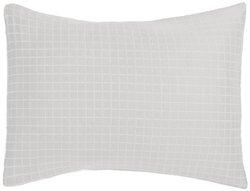 Pinzon Reversible Square Matelasse European Sham - White/Silver