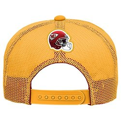 NFL Kansas City Chiefs Boys 8-20 Stealth Flat Brim Hat with Mesh Back, Youth One Size, Gold