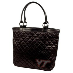 Little Earth Women's NCAA Virginia Tech Hokies HandBag - Black