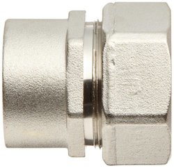 "Polyconn 1"" NPT Female Duratec Plated Brass Plumbing Pipe Fitting Adapter"