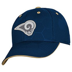 NFL St. Louis Rams Boys 8-20 Structured Flex Fit Cap, Youth One Size, Dark Navy