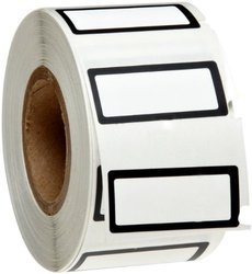 "Brady B-619 Polyester Matte Finish White w/ 1/16"" Border Label - Black"