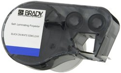 "Brady M-75-461 Polyester B-461 Black on White/Clear Label Maker Cartridge, 2-5/8"" Width x 1"" Height, For BMP51/BMP53 Printers"