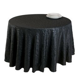 SARO LIFESTYLE 8215 The Plaza Round Tablecloth Liners, 120-Inch, Black