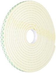 "TapeCase 0.5"" W x 5-yd L Converted from 3M 4004 White Foam Tape - 1 Roll"