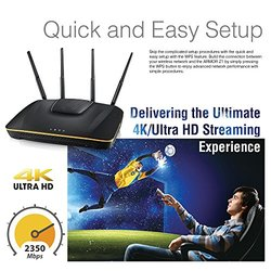 ZyXEL Armor Z1 Dual-Band Wireless 4K Gigabit Router - Black (NBG6816)