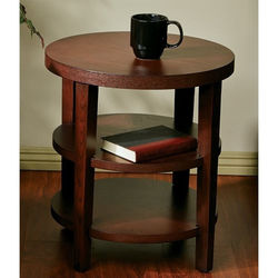 Office Star Brighton Solid Wood & Veneer End Table - Mahogany