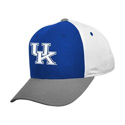 NCAA Youth Boys 8-20 Kentucky Wildcats Adjustable Cap - White/Blue