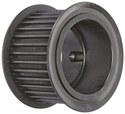 """Gates P34-8MGT-50 GT 2 PowerGrip Ductile Iron Sprocket, 8mm Pitch, 34 Groove, 3.409"""" Pitch Diameter, 1/2"""" to 1-11/16"""" Bore Range, For 50mm Width Belt"""