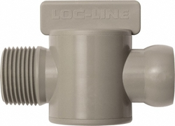 "Loc-Line 3/4"" NPT Male Gray Copolymer Coolant Hose Component - Pack of 10"