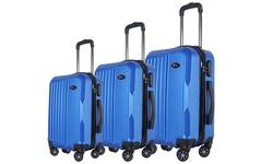 Brio Luggage Hardside Spinner Luggage 3 Pc Set - Blue