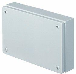 "Rittal 1517510 Light Grey 18 Gauge Steel KL Screw Cover Junction Box, 11-13/16"" Width x 7-7/8"" Height x 3-5/32"" Depth"