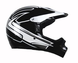 Raptor Junior Off Road Helmet with Silver Graphic - Black - Size: Large