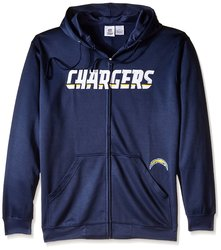 NFL San Diego Chargers Men's Full Zip Poly HD Sweatshirt - Navy - Size: 4X