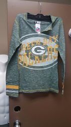 VF LSG NFL Women's Crew Neck Tee - D Green Staccato/Y Gold - Size: XL