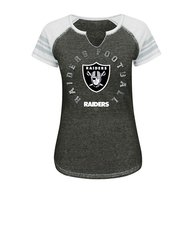 VF LSG NFL Women's V Split Neck Tee - C Blurry/White/Gray - Size: Large