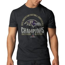 47 NFL Baltimore Ravens Men's AFC Champs Basic Tee - Charcoal - Size: XL