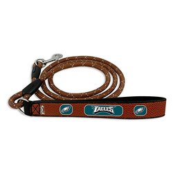 GameWear NFL Philadelphia Eagles Football Leather Rope Leash - Brown