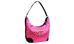 Little Earth NCAA Virginia Tech Quilted Hobo Bag - Pink - Size: One Size