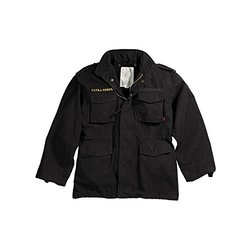 Mens Jacket - Vintage M-65 Field, Black, X-Small by Ultra Force