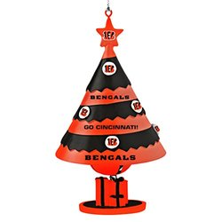 NFL Cincinnati Bengals Tree Bell Ornament - Red/Black