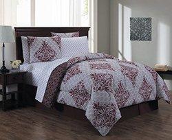 8-piece Comforter Set Biab: Mari/queen/red