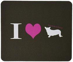 Rikki Knight I Love My Pembroke Welsh Corgi Dog Design Gaming Mouse Pad