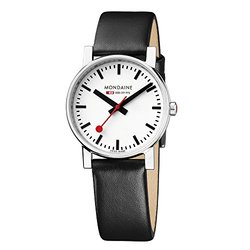 Mondaine Men's Quartz Leather Band Swiss Railways Evo Watch
