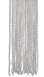 Fun Express Silver Metallic Bead Necklaces - 4 Dozen