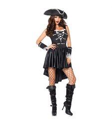 Leg Avenue Women's Pirate Captain Costume - Black - Size: Small
