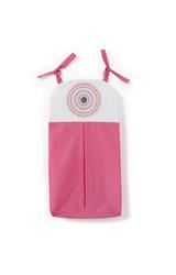 One Grace Place Sophia Lolita Diaper Stacker - Pink/White