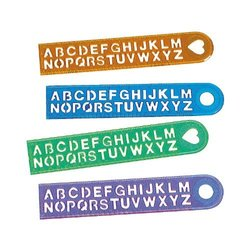 FX Party Favors Alphabet Rulers Set - 6 Dozen
