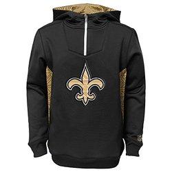 NFL New Orleans Saints Power Logo Hooded Sweatshirt - Black - Youth Small