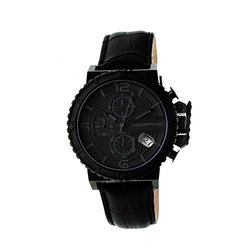 Morphic Black Band Men's Watch: Charcoal Dial/mph5003