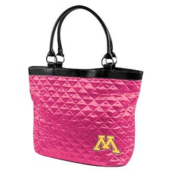Little Earth NCAA Minnesota Quilted Tote - Pink - Size: One
