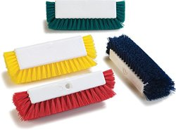 Carlisle Dual Surface Floor Scrub with Side Bristles 12 - Red