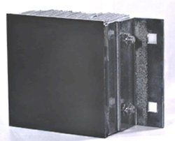 "Durable 13-1/4""x10""x4-1/2"" Steel Face Rubber Loading Dock Bumpers"