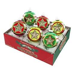 Holiday Splendor LG Reflectors Hearts & Stars Christmas Ornaments